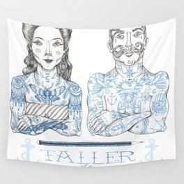 Taller Tattoo Wall Tapestry