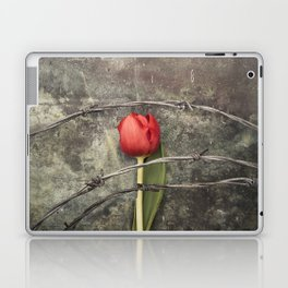 Tulip and barbed wire Laptop & iPad Skin