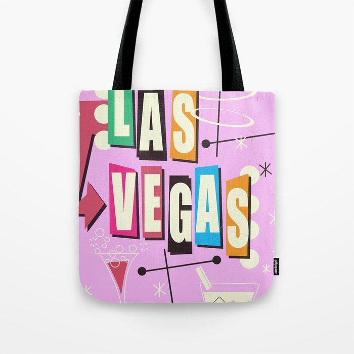 Vintage Las Vegas Vacation print pink version Tote Bag