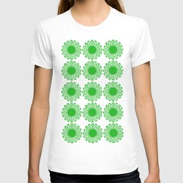 vintage flowers green T-shirt