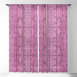 Pink Embroidery Sheer Curtain