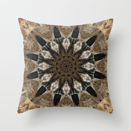 Mandala black Star Throw Pillow