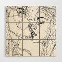 kiss more often (B & W) by sophieschultz