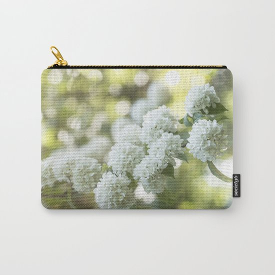White Hydrangea at beautiful backlight- Flowers Floral Carry-All Pouch