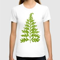 lime T-shirts featuring Lime Fern by Cat Coquillette