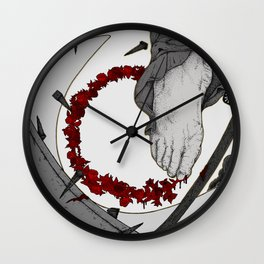 """""""Life From The Feet Of Death"""" illustration by Maxime Potvin Wall Clock"""
