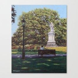 Girl Waiting at Southampton Watts Park Canvas Print