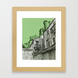 green Venice Framed Art Print