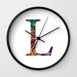 """Initial letter """"L"""" Wall Clock"""