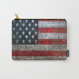 usa  steel flag america Carry-All Pouch