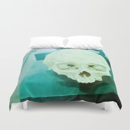 Skull historical Colombian. Duvet Cover