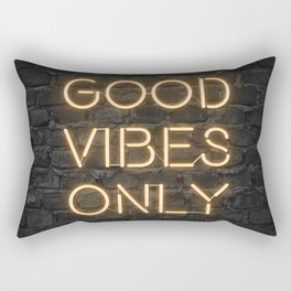 Neon Good Vibes - Orange Rectangular Pillow