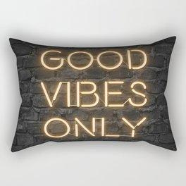 Neon Good Vibes - Orange Rectangular Pillow