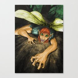 Dark Fairy Canvas Print