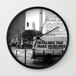 New York Post Truck, Manhattan Wall Clock
