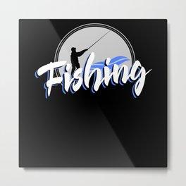 Angler Gift Deep Sea Fishing Metal Print