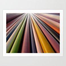 The coloured chimney Art Print