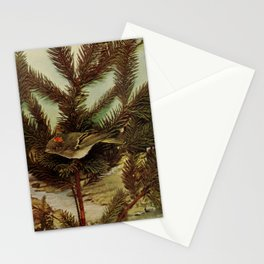 Neltje Blanchan - Bird Neighbours (1903) - Ruby-Crowned Ringlet Stationery Cards