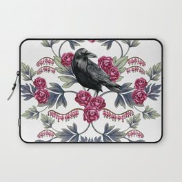 Crows, Bleeding Hearts & Roses Floral/Botanical Pattern Laptop Sleeve