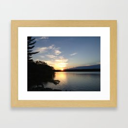 Sunset in Oscoda Michigan Framed Art Print