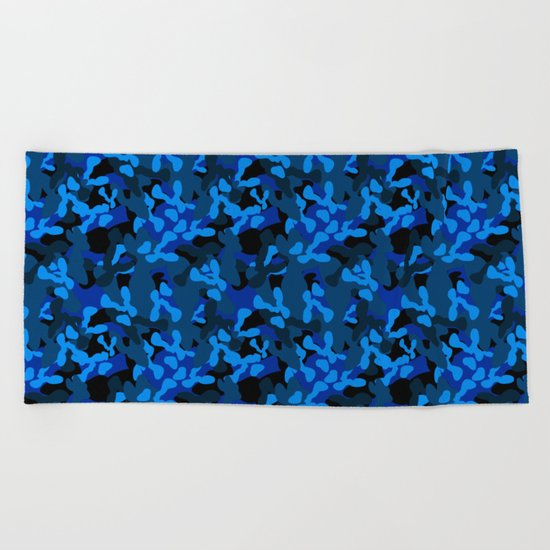 Camouflage (Blue) Beach Towel