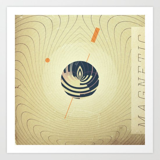 Magnetic Source Art Print