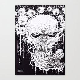 Horror Skull Art Print Canvas Print
