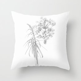 Euphorbia characias Throw Pillow