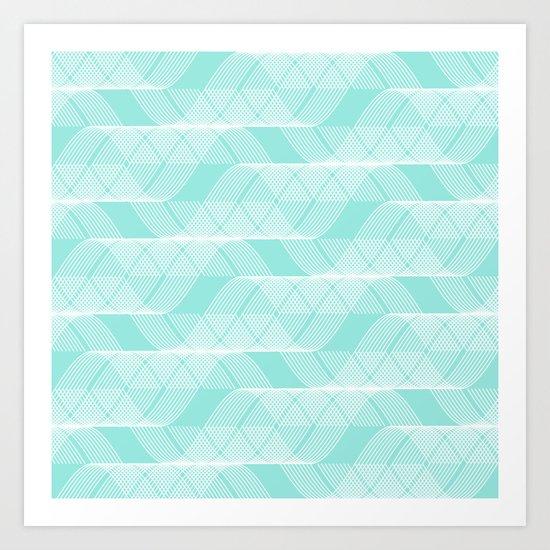 Helix Tiffany Blue Art Print