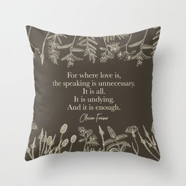 For where love is... Claire Fraser in Sepia Throw Pillow
