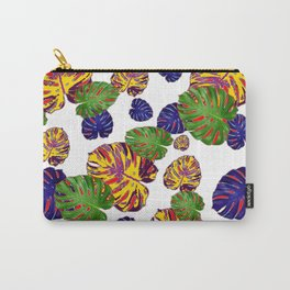 GREEN-GOLD-PURPLE TROPICAL LEAVES ART Carry-All Pouch