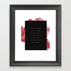 everymorning Framed Art Print