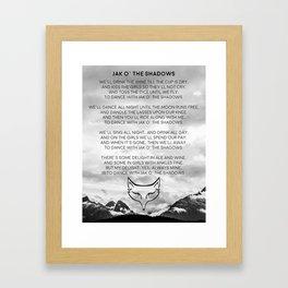 Jack O' The Shadows Wheel of Time Framed Art Print