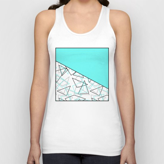 Abstract turquoise combo pattern . Unisex Tank Top
