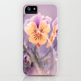 Pansies, flowers in the meadow iPhone Case