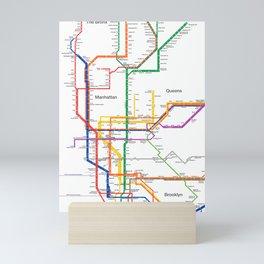 New York City subway map Mini Art Print
