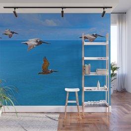 Pelican Flyby Wall Mural