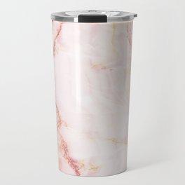 Pink Marble Abstract Travel Mug