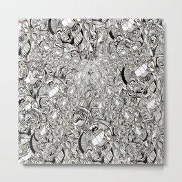 My brain is full of Metal Print