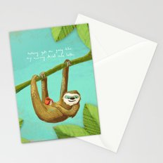 Nothing gets me going like my morning caffe latte Stationery Cards