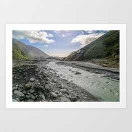 Beyond the Glacier Valley Art Print