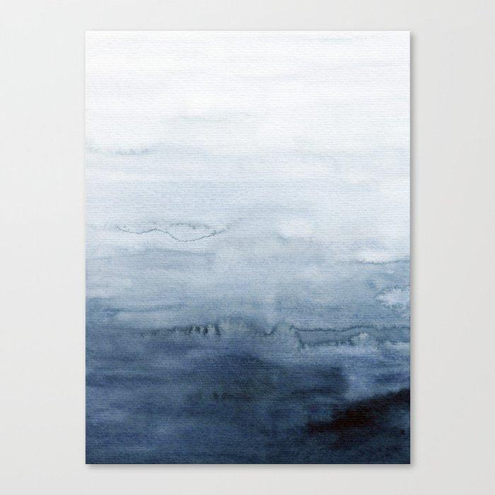 Indigo Abstract Painting | No. 4 Leinwanddruck