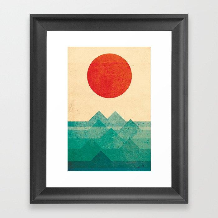 The ocean, the sea, the wave Framed Art Print