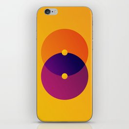 Yellow and Purple 8 (Eight) iPhone Skin