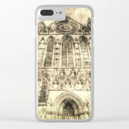 York Minster Cathedral Vintage Clear iPhone Case