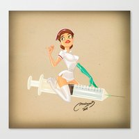 nurse Canvas Prints featuring nurse by Melissa Ballesteros Parada