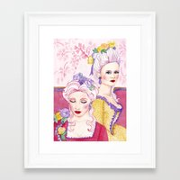 agnes cecile Framed Art Prints featuring Marie & Cecile by artofnadia