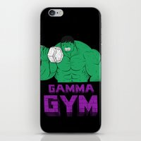 gym iPhone & iPod Skins featuring gamma gym by Louis Roskosch
