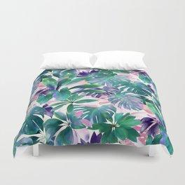 Pastel Summer Tropical Emerald Jungle Duvet Cover