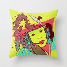 Morning bust hello Throw Pillow